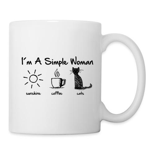 Vorschau: simple woman cats - Tasse