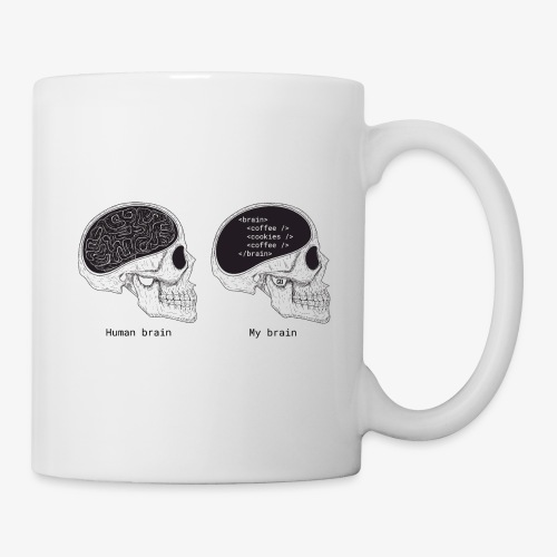 Human programmer brain | Geeky | Web jokes - Mug