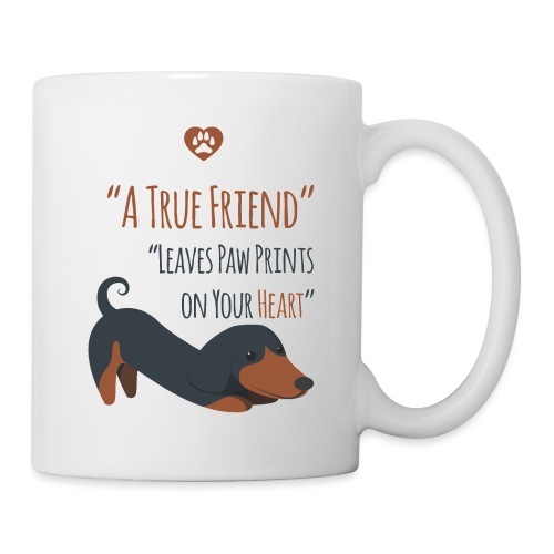 Dogs are true friends - Mug