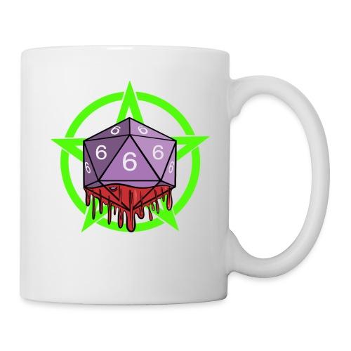 Würfel RPG Spiel Rollenspiele 666 mit Pentagramm - Tasse