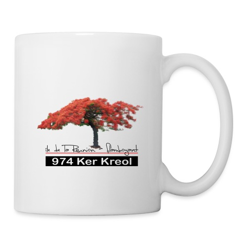 Flamboyant 974 Ker Kreol - Mug blanc
