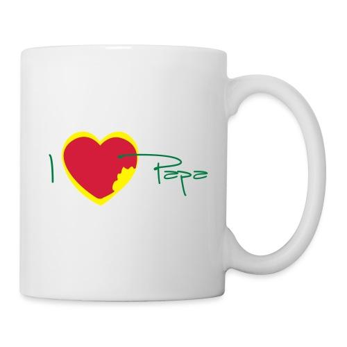 I love papa rastafari - Mug blanc