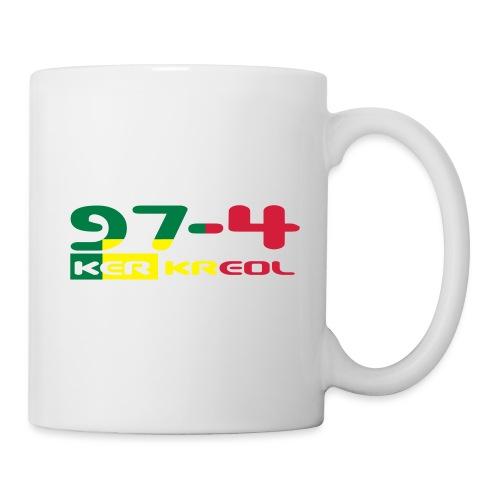 Logo 974 ker kreol VJR, rastafari - Mug blanc