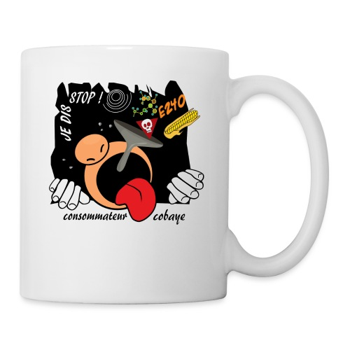 consommateur cobaye - Mug blanc