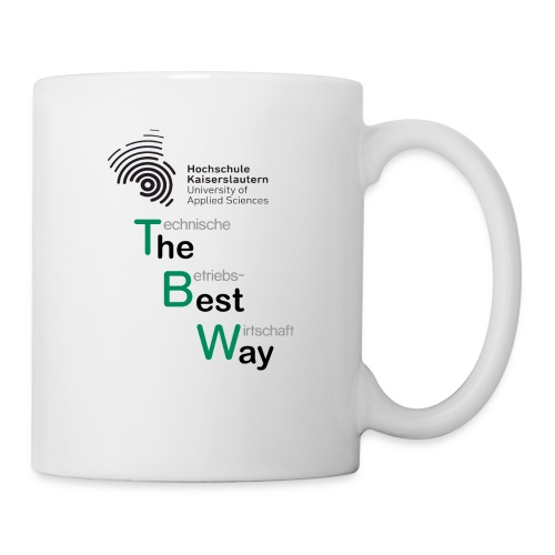 TBW The Best Way schwarz grau - Tasse