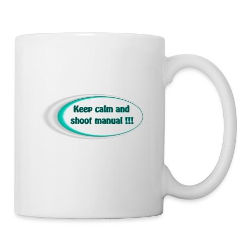 Keep calm and shoot manual slogan - Mug