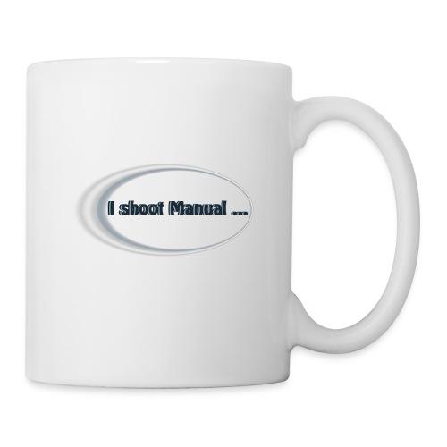 I shoot manual slogan - Mug