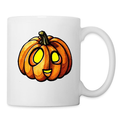 Pumpkin Halloween watercolor scribblesirii - Tasse