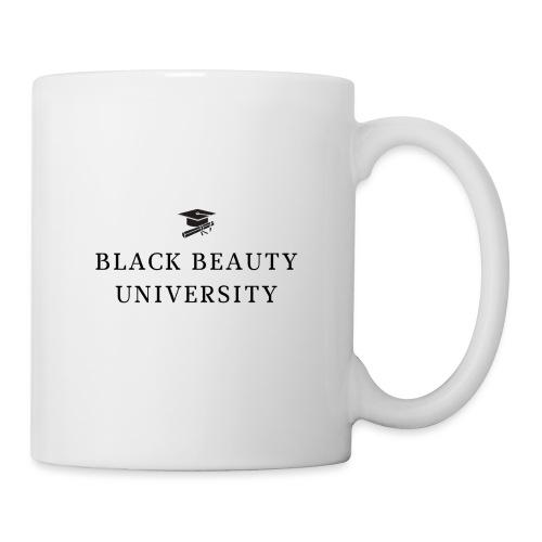BLACK BEAUTY UNIVERSITY LOGO BLACK - Mug blanc