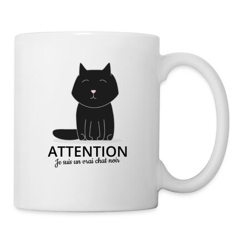 Chat noir - Mug blanc