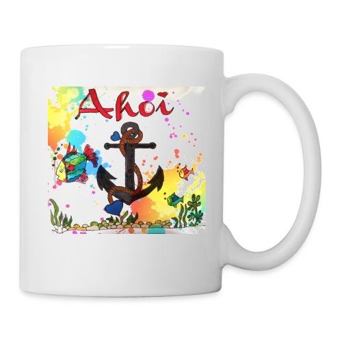 Ahoi mit Anker Design - Tasse