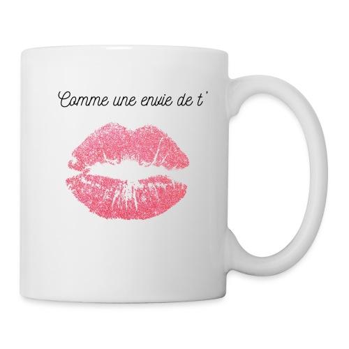 Comme une envie de t'embrasser - Mug blanc