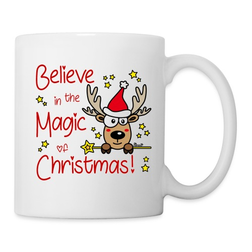 Renne, Magic of Christmas, Happy Christmas, Noël - Mug blanc