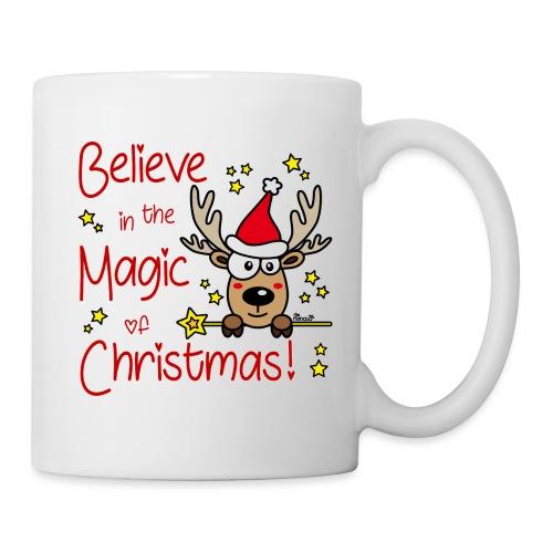 Renne, Magic of Christmas, Happy Christmas, Noël - Mug blanc