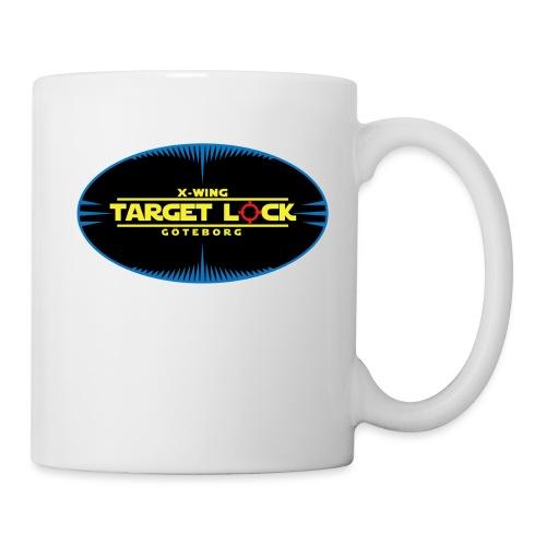 Target Lock Tryck på ljus bakgrund - Mugg
