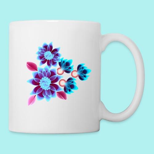 Hypnotic flowers - Mug blanc
