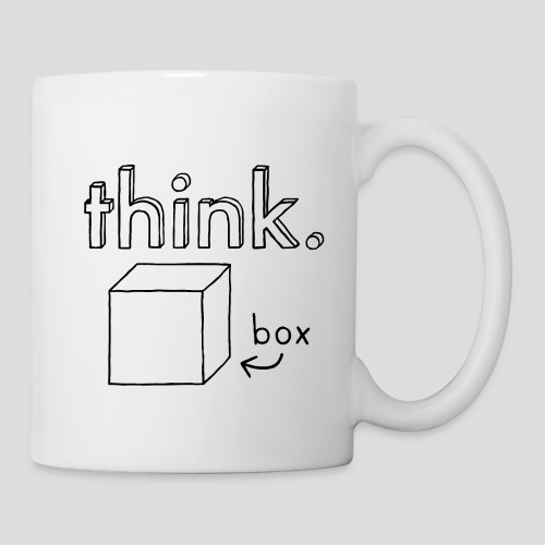 Think Outside The Box Illustration - Mug