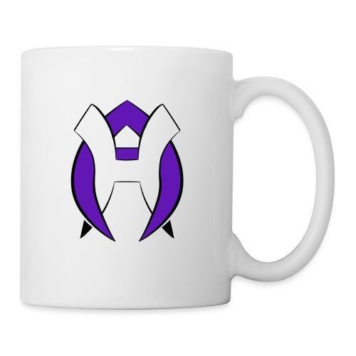Logo Heneco Adelina violet noir - Mug blanc