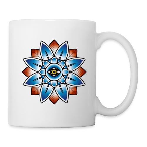Psychedelisches Mandala mit Auge - Tasse