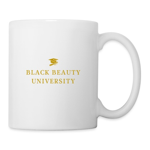 BLACK BEAUTY UNIVERSITY LOGO GOLD - Mug blanc