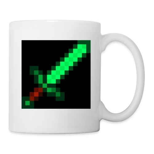 green emerald MCPE sword - Mug