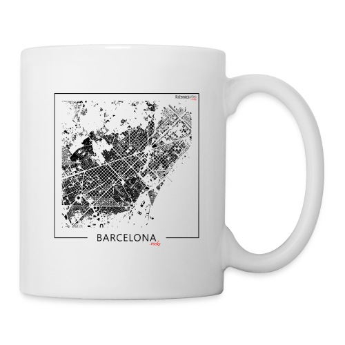 Schwarzplan Barcelona Figureground Diagram - Tasse