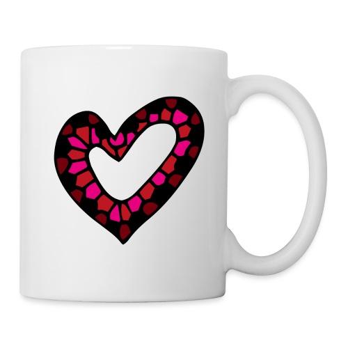 Herz Mosaik Buntglas - Tasse