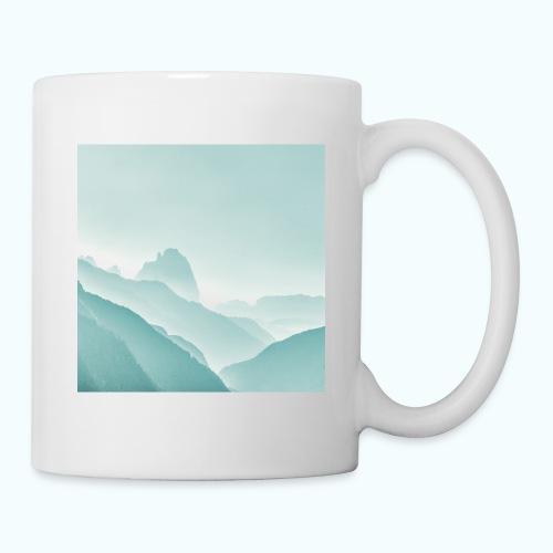 Minimalist zen mountains pastel - Mug