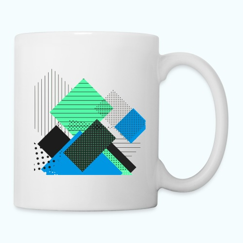 Abstract rectangles pastel - Mug