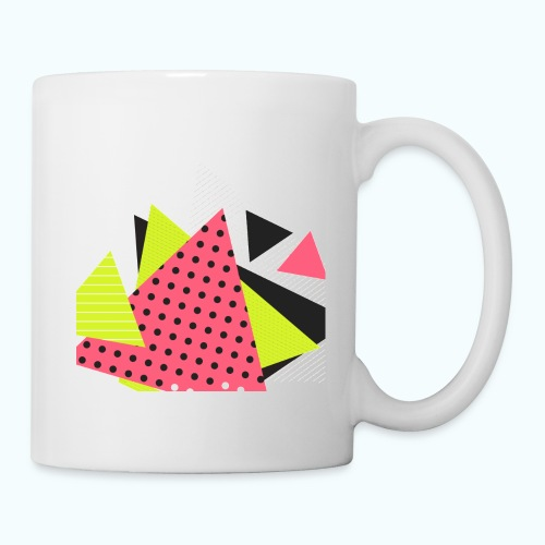 Neon geometry shapes - Mug