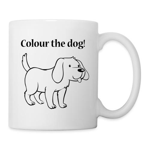 Colour the dog! - Mug