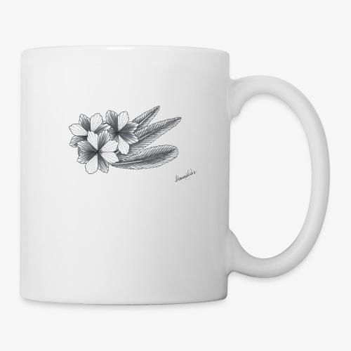 summer flowers - Mug blanc