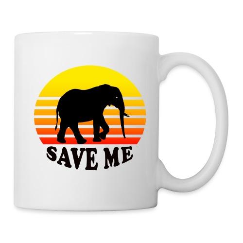 Elefant SAVE ME Schattenriss Sonne - Tasse