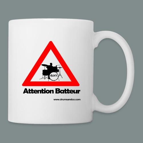 Attention batteur - Mug blanc