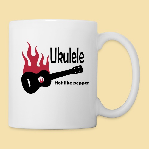 Ukulele Burning like pepper - Tasse