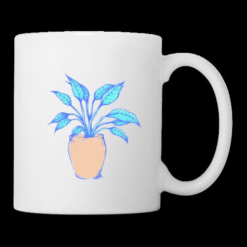 Einblatt Pflanze - Tasse