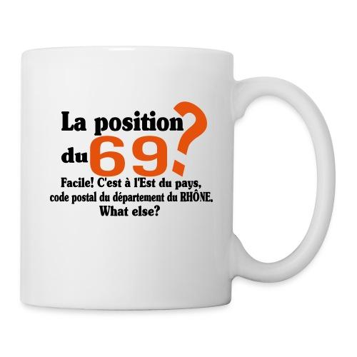 Département du 69 motif amusant et humoristique - Mug blanc