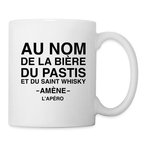 Au nom de la bière, du pastis et du simple whisky - Mug blanc