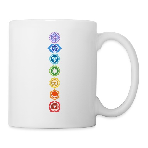 The 7 Chakras, Energy Centres Of The Body - Mug