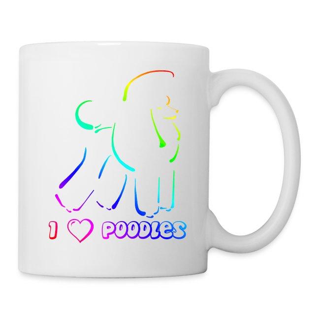 poodle on canvas finish rainbow black gif