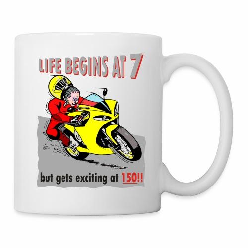 life begins at 7 - Mug
