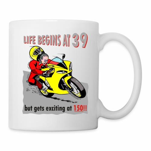 life begins at 39 - Mug