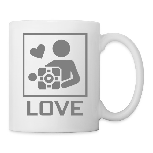 SPREADSHIRT_PORTAL_CUBE_LOVE - Tazza