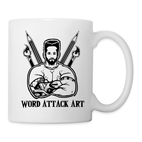 Word Attack Art - Tasse
