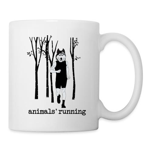 Loup running - Mug blanc