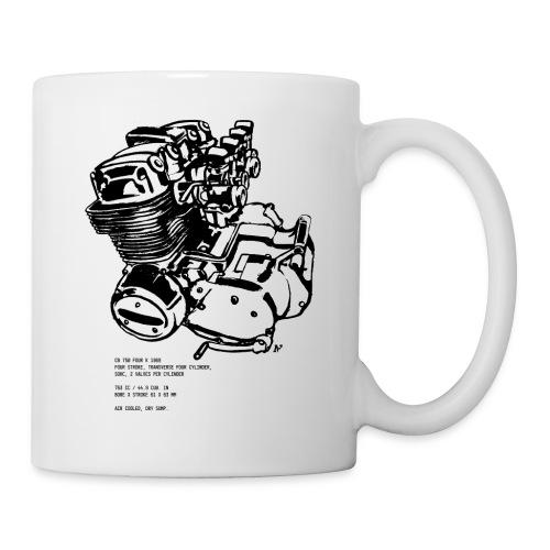 CB 750 Motorrad Motorblock - Tasse