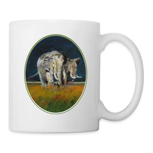 Savannen-Elefanten in Afrika - Tasse
