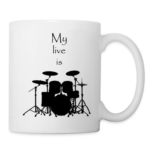 mylifeisdrums - Mug blanc