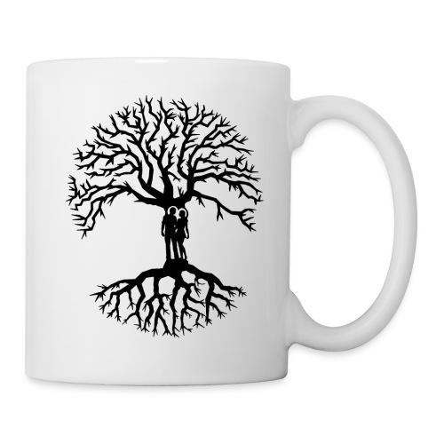 couple arbre de vie zen amour Tree of life noir - Mug blanc