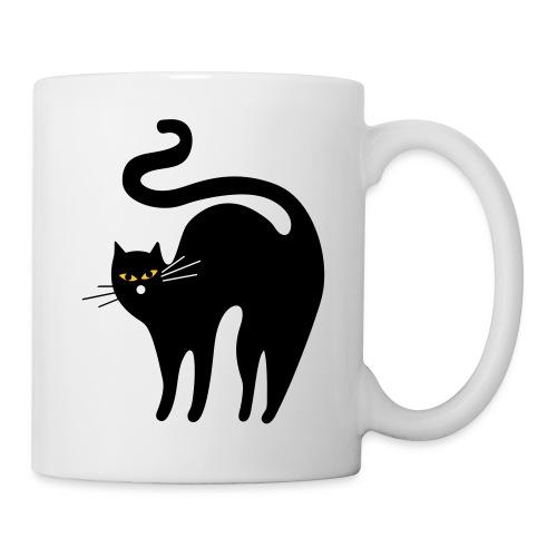 black cat - Mug blanc